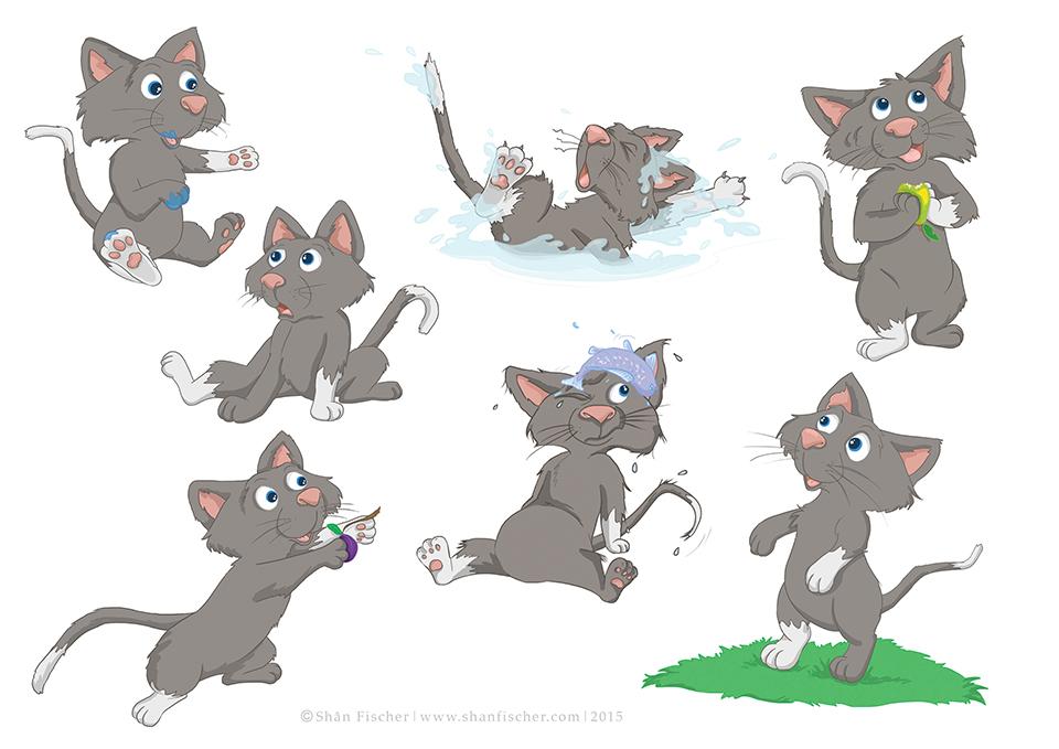 Cat Character.