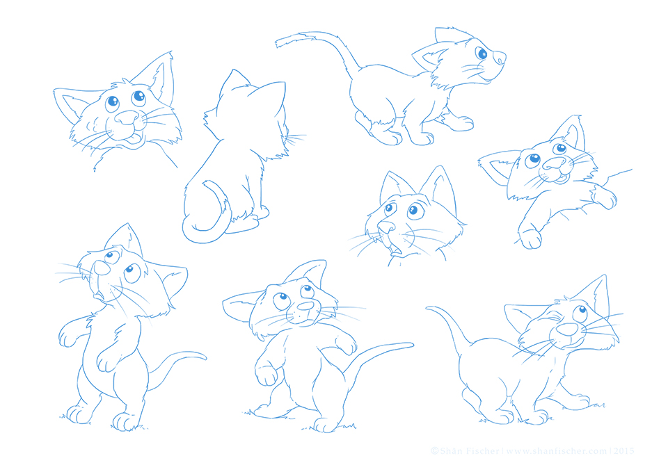 Cat Character Poses.