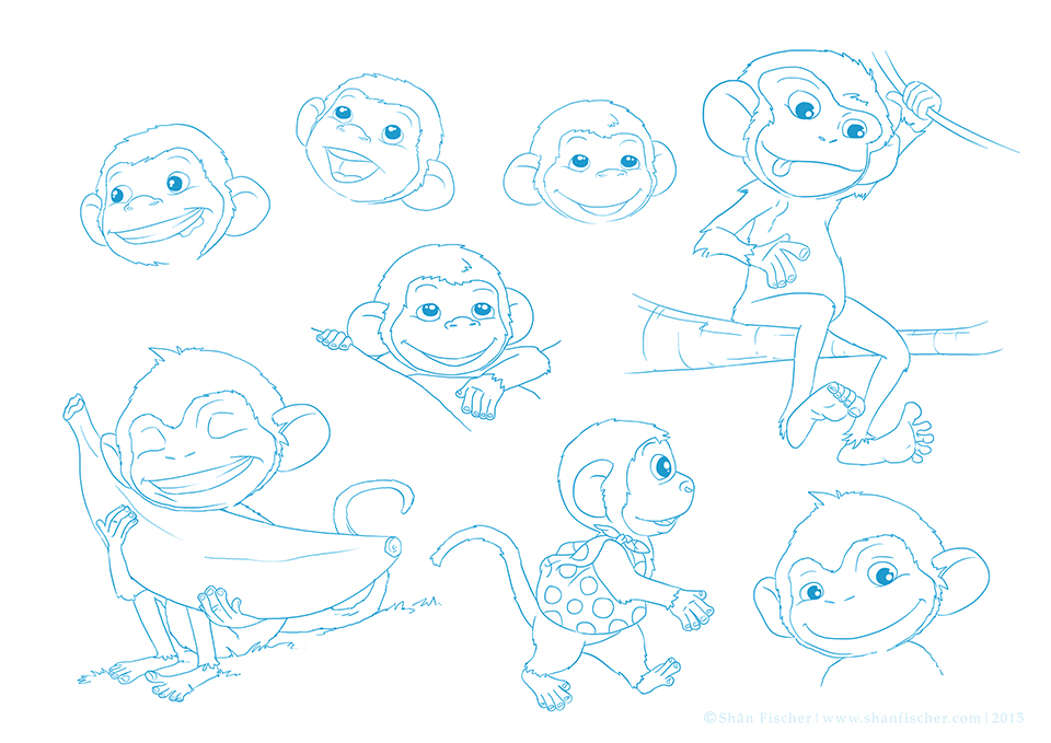 Monkey Character Sheet.