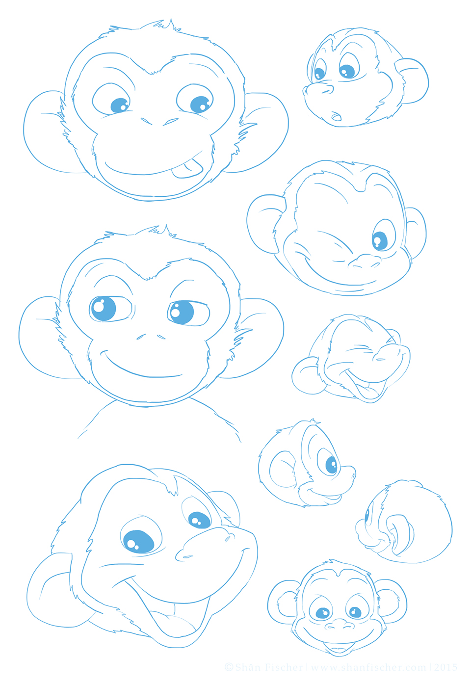 Monkey Character Expressions.