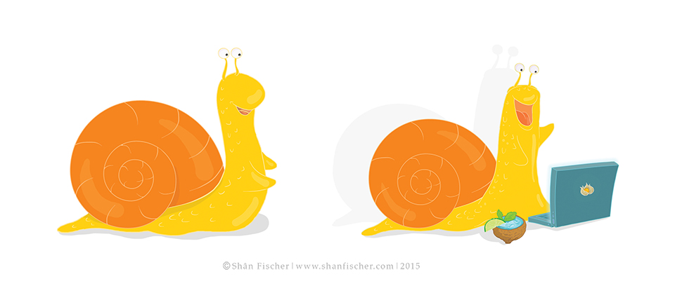 Snail Character.