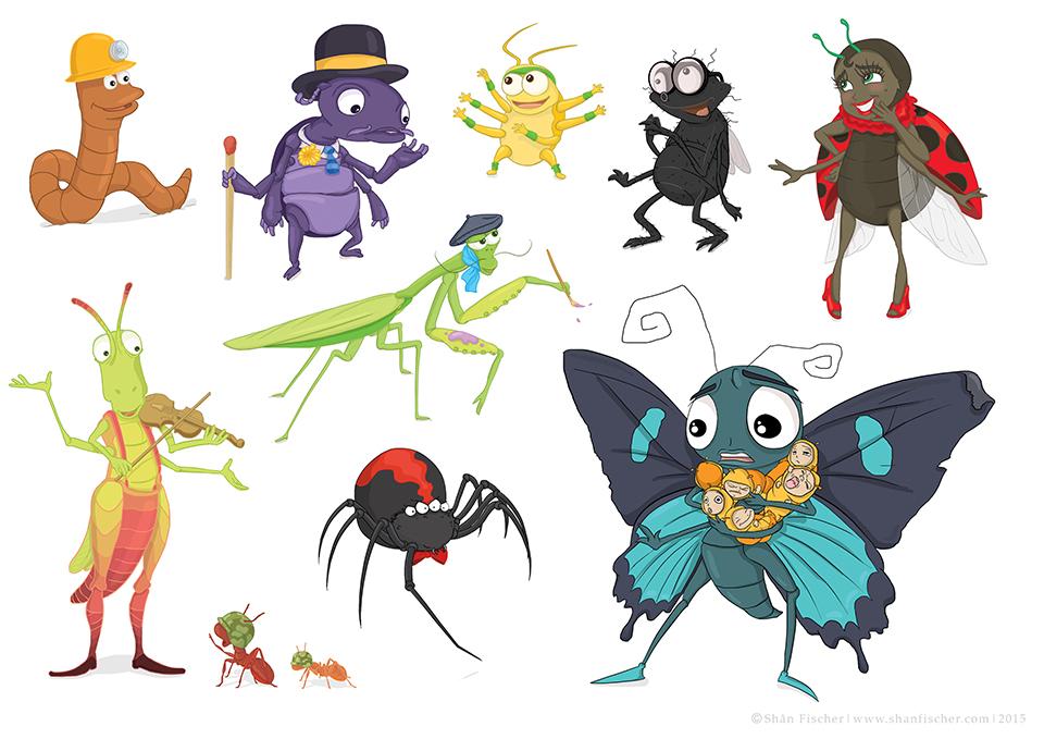 Bug Characters.