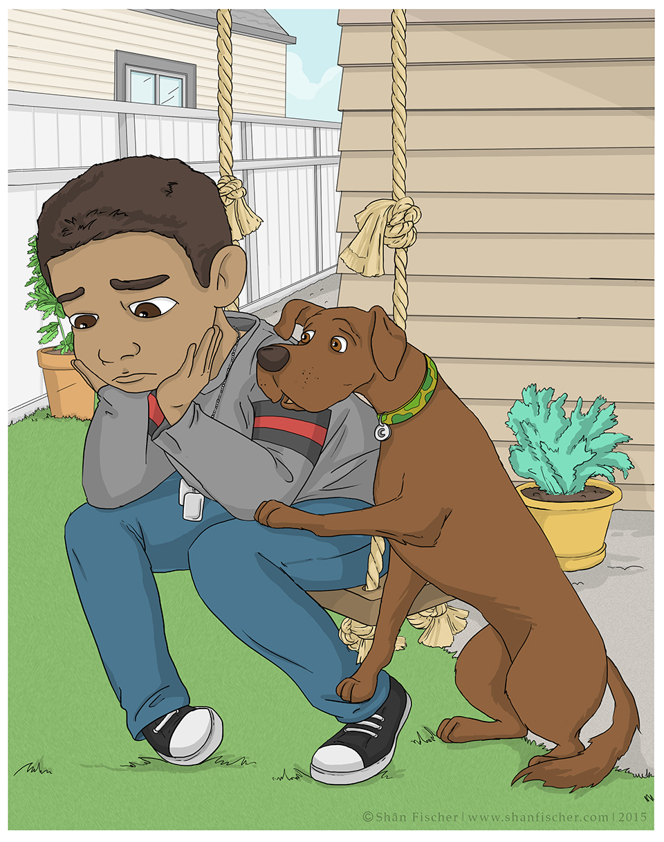 Danny with his dog.